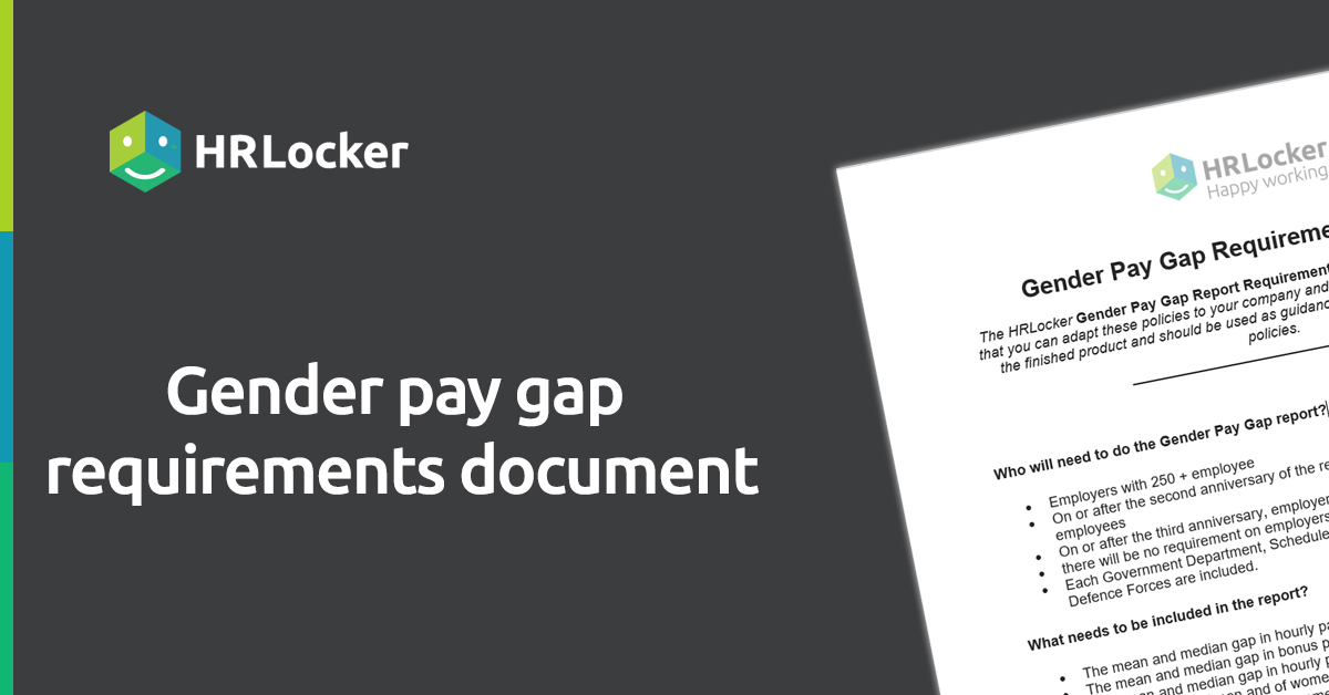 gender paygap requirements